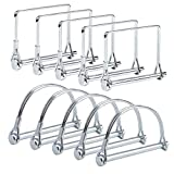 10 Pcs Shaft Locking Pin Safety Coupler Pin 1/4 Inch Diameter in 2 Shapes of Square and Arch for Farm Trailers Wagons Lawn Hitches and Garden (Silver) by XBDZR