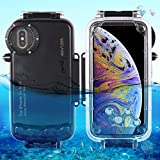 JIADUOBAOSEN Entwickelt for iPhone XS Max Case, 40m / 130ft wasserdichtes Tauchgehäuse Foto Video...
