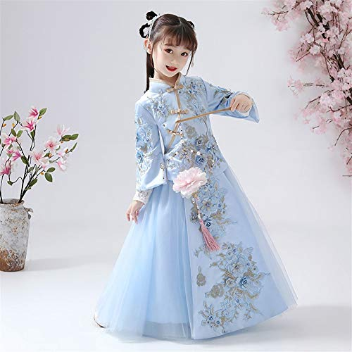 Zoet The Little Girl Princess Dress Meisjes Kostuum Princess Dress Kinderen jurk met lange mouwen Western Style Retro Han-Chinezen Xiu Kleding Costume Dress New Year hjm