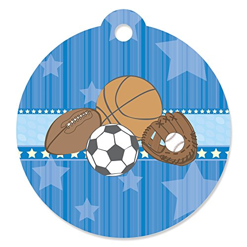 All Star Sports - Baby Shower or Birthday Party Favor Gift Tags (Set of 20)