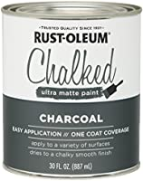 Rust-Oleum 285144 Ultra Matte Interior Chalked Paint 30 oz, 30oz Can, Charcoal