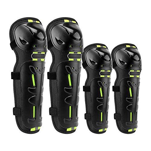 Kyman 4 Stück/Set Motorrad-Patches auf die Knie Ellenbogen Gamaschen Schutzausrüstung Winddicht unzerbrechlich Schutzausrüstung