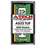 A-Tech 8GB DDR4 2666MHz RAM for ASUS TUF FX504, FX504GD, FX504GE, FX504GM Laptops | PC4-21300 SODIMM 260-Pin Memory Upgrade Module