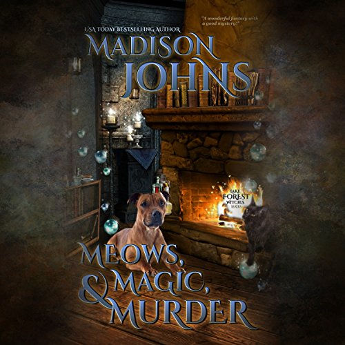 Meows, Magic & Murder audiobook cover art