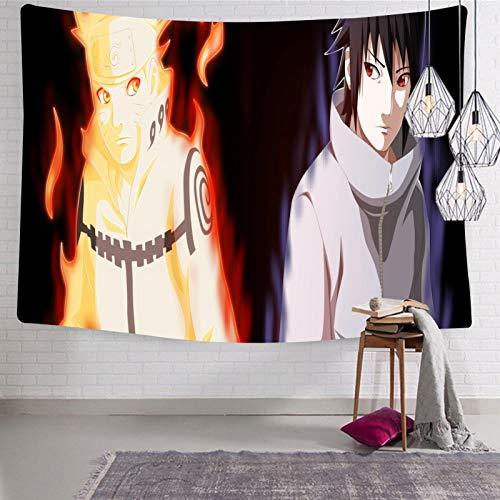 3354 Tapiz para colgar en la pared, diseño de Anime Na-ru-to Tapiz suave y divertido para dormitorio de 188 x 222,5 cm