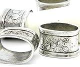 6 Pack Serviettenringe zinn Silber, handgefertigt in Italien von Cavagnini - 3