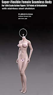 Anyota Female Seamless Body PLMB2018-S24A 1/6 Scale Action Figures Dolls Full Silicone Super Flexible Pale Medium Breast Size(Head Not Included)