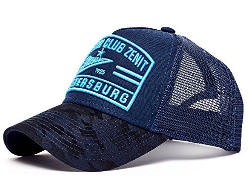 Atributika & Club FC Zenit St. Petersburg Trucker Hat Cap, Dark Blue/Blue