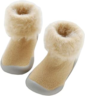 Bigood Toddler Baby Kids Anti-slip Wool Floor Socks Slipper Walking Sock