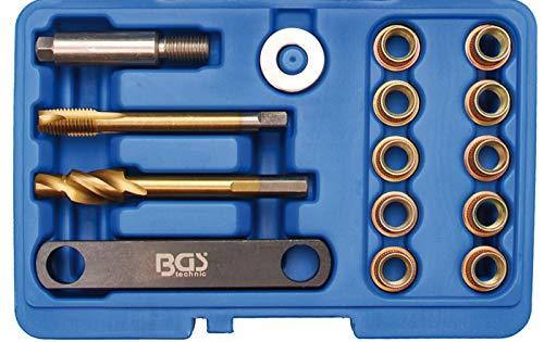 BGS 8408 | Reparatur-Satz für Bremsgewinde | 15-tlg. | für VAG | M12 x 1,5 mm | Bremssattel | Führungsbolzen