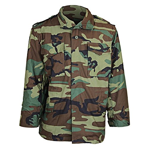Tru-Spec M-65 Field Coat with Liner in Woodland - Large