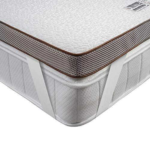 BedStory Matratzentopper 140 x 200 cm, 5cm Höhe Gel Topper mit Abnehmbarem und Waschbarem Bezug, Atmungsaktive und Bequeme Matratzenauflage für Boxspringbett und Unbequeme Betten Schlafsofa