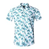 NUTEXROL Hawaiian Shirts Mens Bamboo Print Beach Aloha Party Holiday print1 3XL