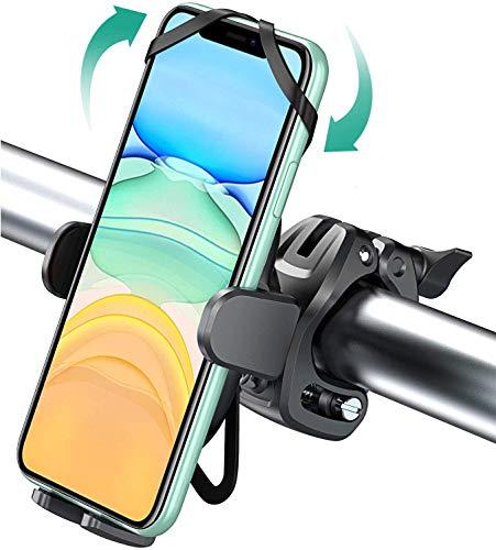 Cocoda Fahrrad Handyhalterung Dreifacher Schutz für 4.0-6.8 Zoll Handys, 360 Grad Handyhalterung Motorrad Fahrrad Zubehör Kompatibel mit iPhone 12 Pro Max, 12 Mini, 11 Pro Max, Samsung S20 +, S10+