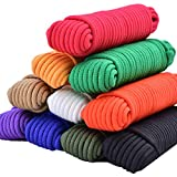 SMART&CASUAL 150 ft φ 1/8 inch (5mm) Nylon Poly Rope Flag Pole Polypropylene Clothes Line Camping Utility Good for Tie Pull Swing Climb Knot ((45.8M) 150ft, Green)