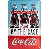 Nostalgic-Art 22266, Coca-Cola–by The Case, Cartel de Chapa 20x 30cm