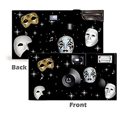 5 Masquerade Custom Disposable Cameras, Can be Personalized, Single Use by CustomCameraCollection