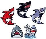 i-Patch – Parches – 0188 – Haya – Pez Marino – Raub-Fisch – Ballena – Delfín – Animales Marinos – Acuario – Zoo – Aplicación – Parche – Parche – Pegatinas – Parche – Parche para Planchar – Niño