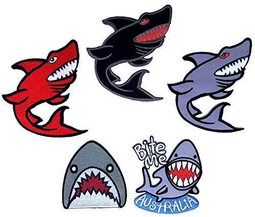 i-Patch - Patches - 0188 - Hai - Fisch - Wal - Delfin - Meer - Raubfisch - Meeres-Tiere - Aquarium - Zoo - Applikation - Aufbügler - Flicken - Aufnäher - Sticker - Badges - Bügelbild