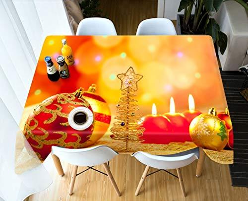 LWF Europees tafelkleed 3D-tafelkleed exquise kerstmotief Perzische rechthoekige bruiloft tafelkleed
