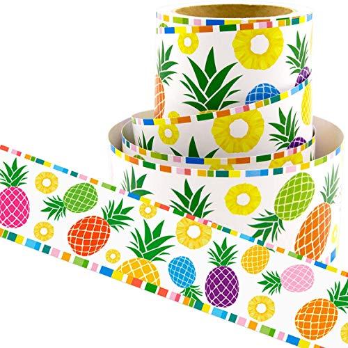 Pineapple Bulletin Board Border Straight Border Trim for Tropical Classroom Decoration Office Presentation Boards 36ft