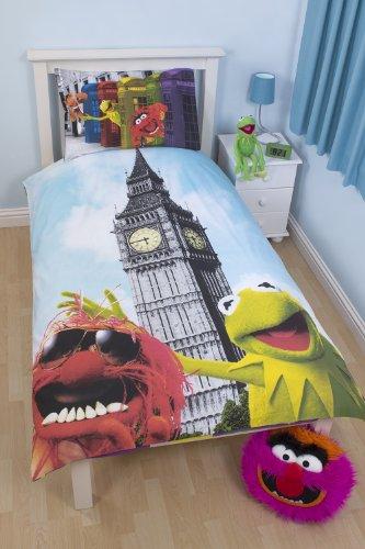 Character World Die Muppets Postkarte einzelner Bettbezug und Kissenbezug Set