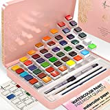 ARTISTRO Watercolor Paint Set, 48 Vivid Colors in Tin Box, Including Metallic and Fluorescent...