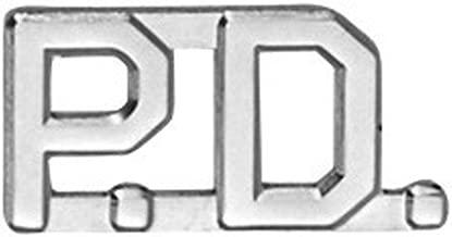 First Class PD Police Department Collar Lapel Pin Insignia (Pair)