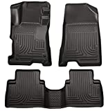 Husky Liners - 98401 Fits 2008-12 Honda Accord 4 Door Weatherbeater Front & 2nd Seat Floor Mats Black