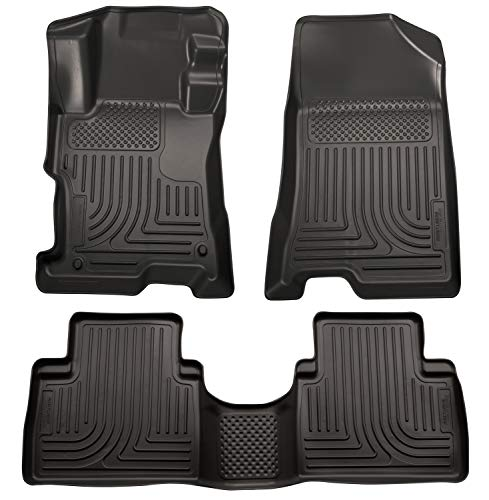 Husky Liners Fits 2008-12 Honda Accord 4 Door Weatherbeater Front & 2nd Seat Floor Mats