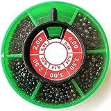 Sele 301600 Plombs de pêche Tailles assorties Boîte ronde – Pêche avec flotteur
