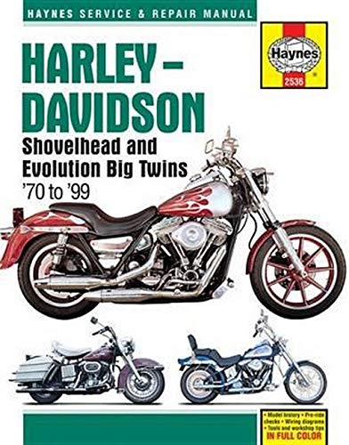 Image OfHarley-Davidson Shovelhead & Evolution Big Twins (70 - 99): 1970 - 1999 (Haynes Service And Repair Manual)