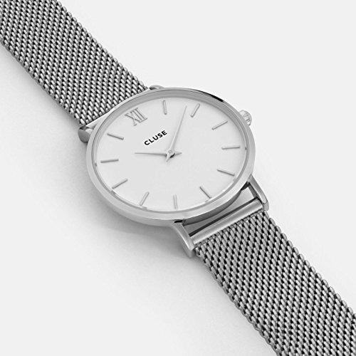 Cluse Reloj Analógico de Cuarzo para Mujer con Correa de Acero Inoxidable - CL30009