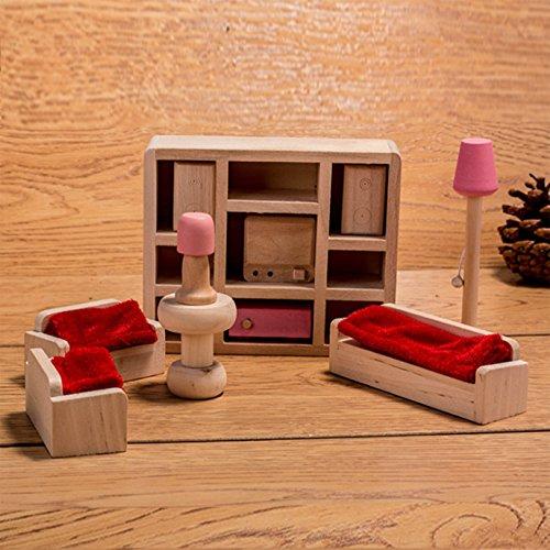 HorBous Set Mobili per Casa di Bambola Mobili Miniatura Casa Bambole Bagno Camera da Letto Mobili per Casa delle Bambole Cucina Mobili in Miniatura (Soggiorno)