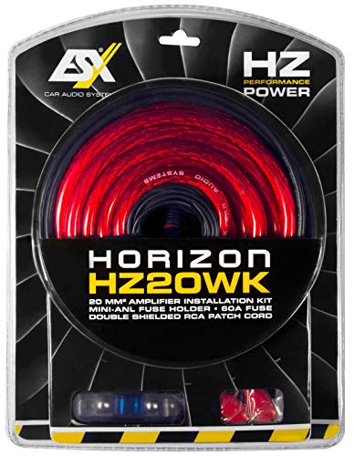 ESX HZ20WK - Kabelkit 20mm² mit 5m Cinchkabel und Mini-ANL Sicherung