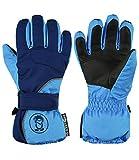 Trollkids Kinder wasserdichter Fingerhandschuh Troll, Marineblau/Mittelblau, Größe 5,0