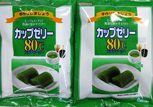 かんてんぱぱ カップゼリーエイティーシー 抹茶 500g(6人分×5袋)2個セット