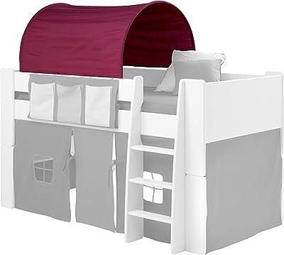 Steens 290624273 - Carpa en Forma de túnel para Cama Alta, Color Rosa
