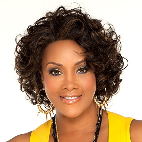 Vivica A. Fox OBSESS-V Remi Human Hair, Deep Lace Front Wig in Color 1