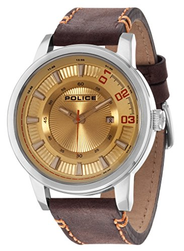 INTELIHANCE. 14375JS/07 - Reloj para Hombres, Correa de Cuero Color marrón