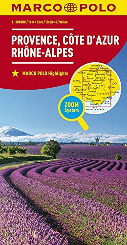 MARCO POLO Karte Frankreich Provence, Côte d\'Azur, Rhône-Alpes 1:300 000: Wegenkaart 1:300 000 (MARCO POLO Karten 1:300.000)