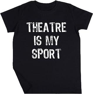 Theatre Is My Sport Niño Niña Unisexo Negro Camiseta Manga Corta Kids Black T-Shirt