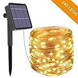 Catena Luminosa Solare, Kolpop 26M Stringa Luci Solari 240 LED / 8 Modi, Impermeabili Luci...