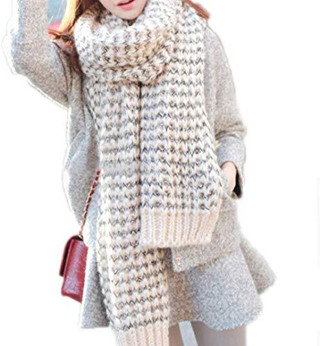 Asgon sjaal, zacht en warm, voor dames, mohairsjaal, wol, vogue wrap shawl plaid beige zonder envelop, eenvoudig te wassen
