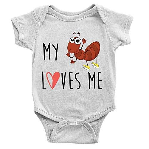 Lplpol My Antie Loves Me - Mono de algodón para bebé, unisex, para niñas, GK1012, multicolor, 12 meses