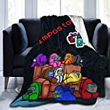 LBW Among Us Throw Blanket Warm Cozy Ultra Printed Fleece Blankets for Bed Sofa Couch 80 inches X60 Black5