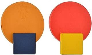 Fashion Geometric Yellow Blue Square Earrings Retro Red Orange Round Earrings