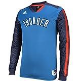 Oklahoma City Thunder Adidas 2013azul de corte lanzador de manga larga T-Shirt, Azul/Azul marino