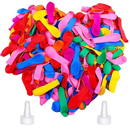MCSQK Zestaw 1000 sztuk bombek wodnych, do samodzielnego napełniania, do samodzielnego uszczelniania, kolorowe mieszane balony wodne, dla dzieci, dorosłych, na lato, na plażę, na imprezę, do zabawy