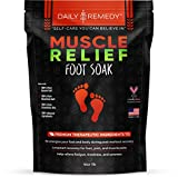 Muscle Relief Foot Soak with Epsom Salt, Made in USA, Soothe Foot Aches, Muscle Pain, Joint Soreness, Tired Feet, Softens Calluses and Helps Athletes Foot 1lbs